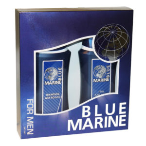 Набор подарочный косметический для мужчин Blue Marine mini (шампунь 250 мл + гель д/душа 250 мл) 4
