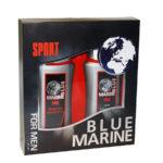 Набор подарочный косметический для мужчин Blue Marine Sport mini (шампунь 250 мл + гель д/душа 250 мл) 2