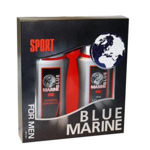 Набор подарочный косметический для мужчин Blue Marine Sport mini (шампунь 250 мл + гель д/душа 250 мл) 16