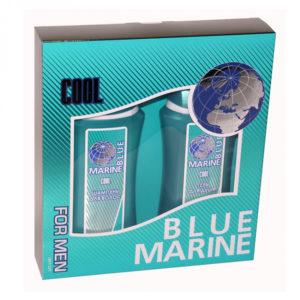 Набор подарочный косметический для мужчин Blue Marine Cool mini (шампунь 250 мл + гель д/душа 250 мл) 4