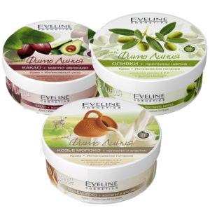 Набор кремов для тела Eveline (какао, 1 шт + оливки, 1 шт + коллаген, 1 шт) 4