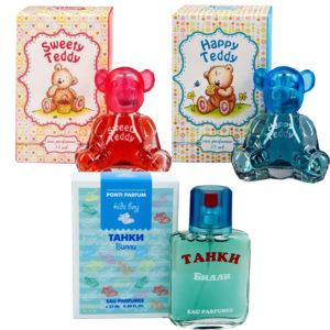 Набор Ponti Parfum Душистая вода для детей (красная 1 шт + Танки 1 шт + голубая 1 шт) 9
