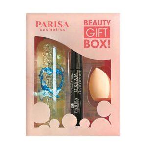 Parisa Набор подарочный Beauty Gift Box! (мицеллярная вода 250 мл, тушь для ресниц 12 мл, бьюти-блендер 10 г) 6