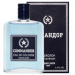 Новая Заря Одеколон для мужчин Commander (Командор), 100 мл 1