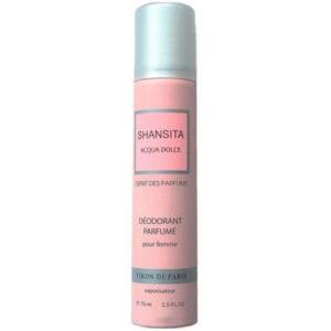 Новая Заря Дезодорант парфюмированный для женщин Shansita Acqua Dolce (Шансита нежная вода), 75 мл 20