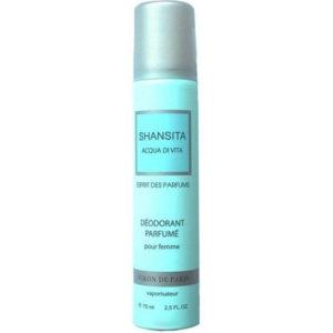 Новая Заря Дезодорант парфюмированный для женщин Shansita Acqua Di Vita (Шансита живая вода), 75 мл 19