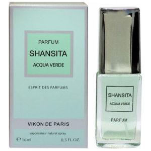 Новая Заря Духи для женщин Shansita Acqua Verde (Шансита свежая вода), 16 мл 1