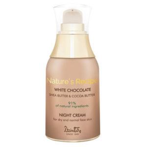 Dzintars Крем ночной для сухой и нормальной кожи лица Nature's Recipe белый шоколад, 50 мл 6