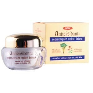 Dzintars Крем ночной регенерирующий для сухой и увядающей кожи лица и шеи из антиоксидантной серии, 50 мл 3