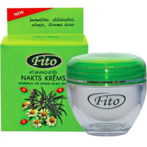 Dzintars Крем ночной восстанавливающий для нормальной и сухой кожи лица Fito, 50 мл 1
