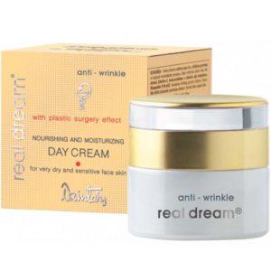 Dzintars Крем дневной увлажняющий от морщин для сухой и чувствительной кожи лица Real Dream anti-wrinkle, 50 мл 2