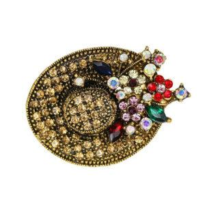 Fashion Jewelry Брошь Шляпа со стразами 5