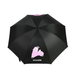 Зонт мужской La-La-Llama механический, 3 сложения, 6 спиц, п/эт, чёрный 5