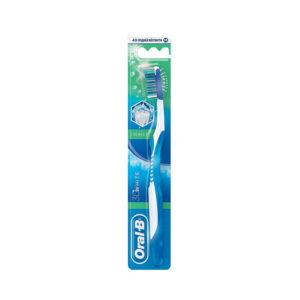 Oral-B 3D White Зубная щётка Свежесть средней жёсткости (40) + чистка языка 3