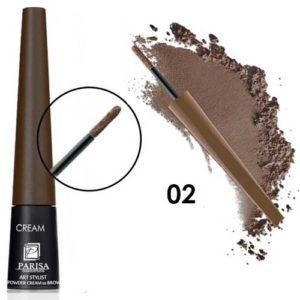 Parisa Пудра-крем для бровей CP-01 тон 02 коричневый, 1 г 6
