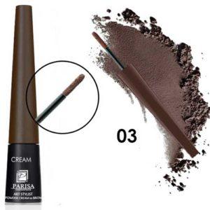 Parisa Пудра-крем для бровей CP-01 тон 03 шоколадный, 1 г 5