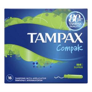 Tampax Тампоны гигиенические с аппликатором Super, 16 шт 1