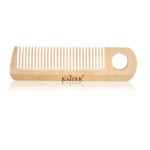 Kaizer professional расчёска без ручки 27 зубьев с отверстием, дерево (берёза) 10