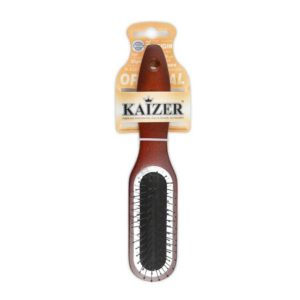 Kaizer professional расчёска для волос массажная с мет зубцами дер ручка, арт. 802039 , 1 шт 11