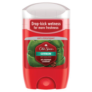 Old Spice Дезодорант-антиперспирант твёрдый Citron with Sandalwood защита от запаха и пота 48 ч + ощущение сухости, 50 мл 55