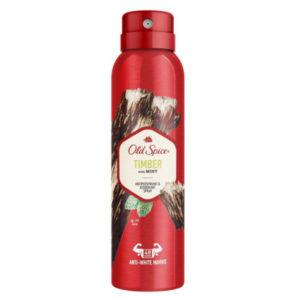 Old Spice Дезодорант-антиперспирант аэрозольный Timber with Mint защита от запаха и пота 48 ч + ощущение сухости, 150 мл 54