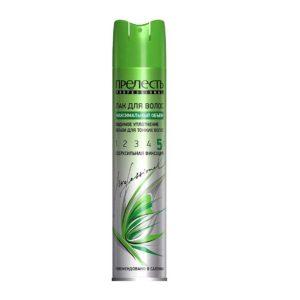 Прелесть Professional лак для волос максимальный объём для тонких волос, сверхсильный (5/5) 6