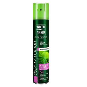 Чистая Линия Фитотерапия Лак для укладки волос Увлажнение + Укладка 5в1 салонная укладка (5/5), 200 мл 14