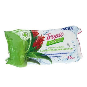 Aura Салфетки влажные с антибактериальным эффектом, 60 шт 9