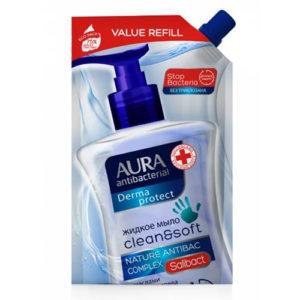 Aura Крем-мыло жидкое антибактериальное 2в1 Derma Protect без триклозана (наполнитель), 500 мл 1