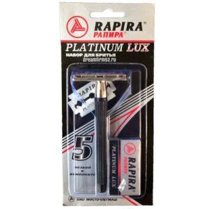 Rapira Набор для бритья Platinum Lux: станок для бритья + лезвия 5 шт 2
