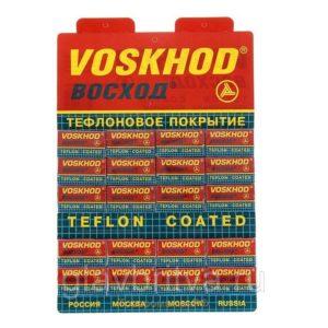 Voskhod Набор лезвий двухсторонних для бритья Восход с тефлоновым напылением (20*5) 10