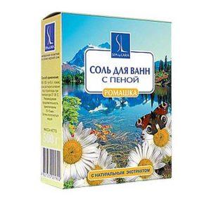 Linstek Laboratory Соль для ванн с пеной Ромашка с растительными экстрактами, 500 г 7
