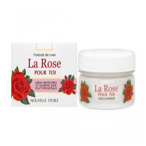 Новая заря La Rose Pour Toi Крем дневной защитный и питательный для всех типов кожи с экстрактом розы, 85 мл 6