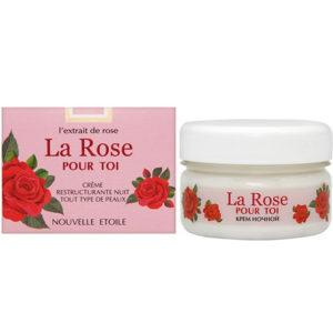 Новая заря La Rose Pour Toi Крем ночной восстанавливающий для всех типов кожи с экстрактом розы, 85 мл 7