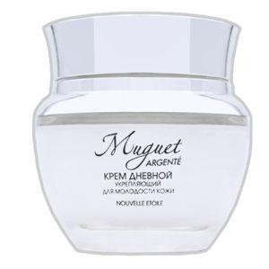 Новая заря Muguet Argente Крем дневной укрепляющий для молодости кожи с экстрактом мальвы и гиалуроновой кислотой, 50 мл 66