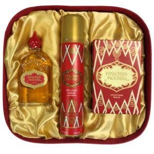 Новая заря Набор подарочный Красная Москва (духи, мыло туалетное, дезодорант парфюмированный) 1