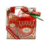Новая заря Набор подарочный для женщин Красная Москва (одеколон 100 мл, мыло туалетное 50 г) 2