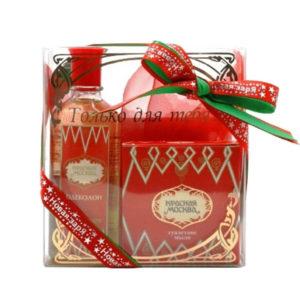 Новая заря Набор подарочный для женщин Красная Москва (одеколон 100 мл, мыло туалетное 50 г) 6