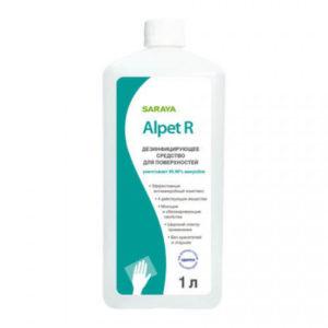 Saraya Alpet R Дезинфицирующее средство для поверхностей, наполнитель, 1 л 26