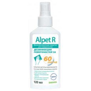 Saraya Alpet R Дезинфицирующее средство для поверхностей, 120 мл 20