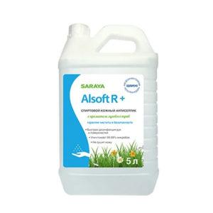 Saraya Alsoft R+ Антисептик спиртовой кожный с ароматом луговых трав, 5 л 10