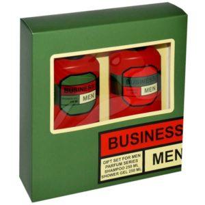 Набор косметический парфюмерный для мужчин Business Men (шампунь 250 мл + гель для душа 250 мл) 1