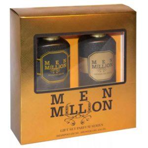 Набор косметический парфюмерный для мужчин Men Million (шампунь 250 мл + гель для душа 250 мл) 3