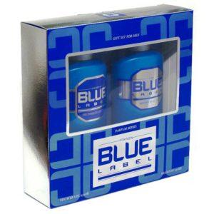 Набор косметический парфюмерный для мужчин Blue Label (шампунь 250 мл + гель для душа 250 мл) 4