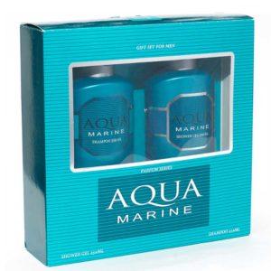 Набор косметический парфюмерный для мужчин Aqua Marine (шампунь 250 мл + гель для душа 250 мл) 1