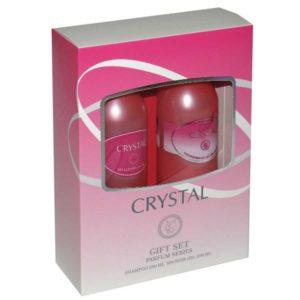 Набор косметический парфюмерный для женщин Crystal (шампунь 250 мл + гель для душа 250 мл) 2