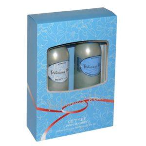 Набор косметический парфюмерный для женщин Delicious Blue (шампунь 250 мл + гель для душа 250 мл) 3