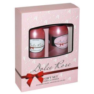 Набор косметический парфюмерный для женщин Dolce Rose (шампунь 250 мл + гель для душа 250 мл) 13