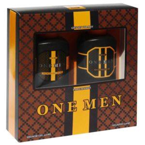 Набор косметический парфюмерный для мужчин One Men (шампунь 250 мл + гель для душа 250 мл) 2