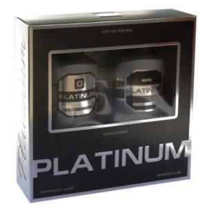 Набор косметический парфюмерный для мужчин Platinum (шампунь 250 мл + гель для душа 250 мл) 2